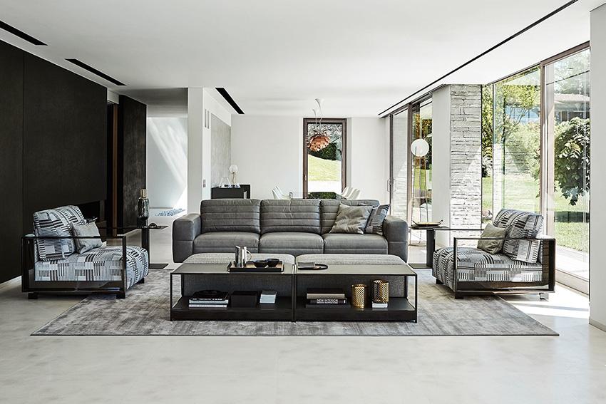 Pilka sofa